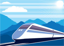 Вектор скорого поезда Стоковая Фотография