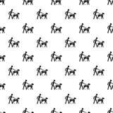Вектор слепой картины проводника собаки мальчика безшовный иллюстрация штока