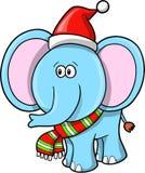 вектор слона рождества Стоковое Изображение RF