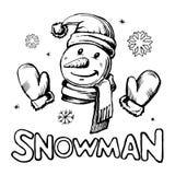 вектор снеговика праздника иллюстрация вектора