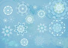 вектор снежинки иллюстрации Стоковое Изображение RF