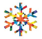 вектор снежинки Стоковая Фотография