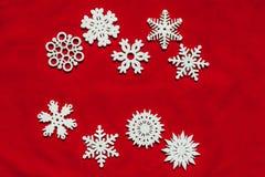 вектор снежинок иллюстрации рождества предпосылки красный Привод игрушки рождества Стоковое Фото
