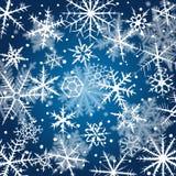 вектор снежинок иллюстрации декоративной конструкции предпосылки графический Стоковые Фотографии RF