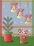 Вектор снежинок украшений праздников рождества Стоковые Фотографии RF