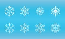вектор снежинок форм кристаллического геометрического льда походя Стоковая Фотография