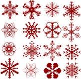 вектор снежинок Стоковая Фотография