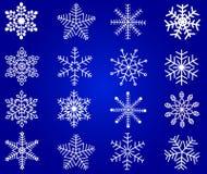 вектор снежинок Стоковое Фото