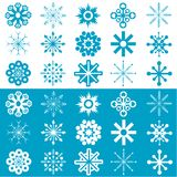 Вектор снежинок Стоковые Фотографии RF