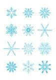 вектор снежинок Стоковое Изображение RF