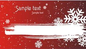 вектор снежка абстрактного рождества предпосылки красный Иллюстрация вектора