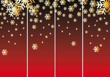 вектор снежка абстрактного рождества предпосылки красный Иллюстрация штока