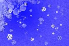вектор снежка хлопь карточки годовщины Стоковое Изображение RF