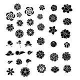 Вектор собрания значка цветка Стоковое Изображение RF