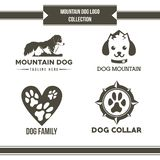 Вектор собрания логотипа собаки горы бесплатная иллюстрация