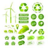 вектор собрания относящий к окружающей среде Иллюстрация штока