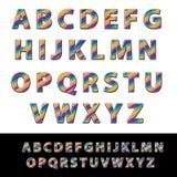 Вектор современных абстрактных шрифта и алфавита Линейный шрифт конструкция просто Стоковое фото RF