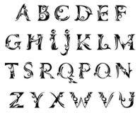 Вектор современных абстрактных шрифта и алфавита иллюстрация штока