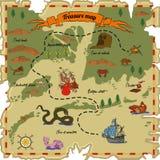 вектор сокровища карты предпосылки старый бумажный Стоковые Фото