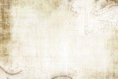 вектор сокровища карты предпосылки старый бумажный Стоковые Изображения