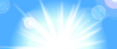 вектор солнца голубого неба Стоковая Фотография