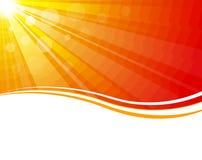 вектор солнца лучей Стоковое Изображение