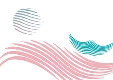 вектор солнца моря шлюпки иллюстрация штока