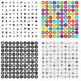 100 вектор солнца установленный значками различный Стоковые Изображения RF