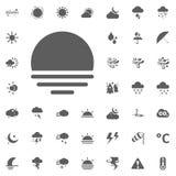 вектор солнца llustration иконы установленный Установленные значки вектора погоды Стоковое Фото