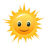 вектор солнца smiley иконы Стоковая Фотография RF