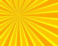 Вектор Солнце испускает лучи предпосылка, яркие цвета, солнечность шаржа, красочный фон иллюстрация вектора