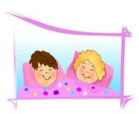 вектор спать малышей cdr Стоковая Фотография