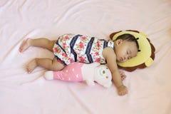 вектор спать младенца милый стоковая фотография rf