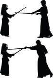 Вектор спорта Kendo японский Бесплатная Иллюстрация
