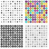 100 вектор спортивных ценностей установленный значками различный Стоковая Фотография RF