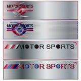 вектор спортов мотора знамени установленный Бесплатная Иллюстрация