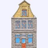 вектор Старый дом в Брюгге стоковое изображение