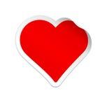 вектор стикера иллюстрации сердца Стоковая Фотография