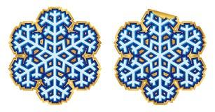 вектор стикера снежинки Стоковые Изображения