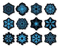 вектор стикеров снежинки Стоковое Изображение RF