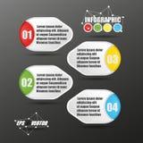 вектор стиля бумаги 3D Infographic Стоковая Фотография RF