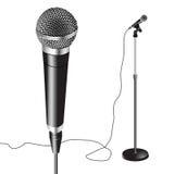 Вектор стойки микрофона Стоковое Изображение