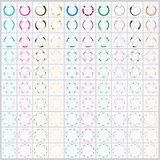 Вектор стрелки 100 Cyclic для Infographic Стоковое Изображение