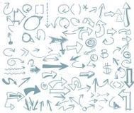 Вектор стрелки Freehand бесплатная иллюстрация