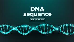 Вектор структуры ДНК Дизайн лаборатории Здоровая хромосома Атом клона Иллюстрация теста перегласовки бесплатная иллюстрация
