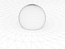 Вектор 01 структуры общей теории относительности сети провода Эйнштейна иллюстрация вектора