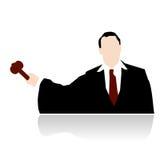 вектор судьи молотка стилизованный Стоковые Фото