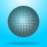 вектор сферы halftone Стоковое Изображение