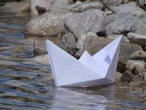 вектор схемы бумаги origami изготавливания плана шлюпки Стоковые Изображения