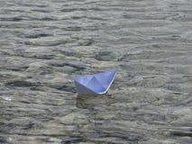 вектор схемы бумаги origami изготавливания плана шлюпки Стоковое Фото